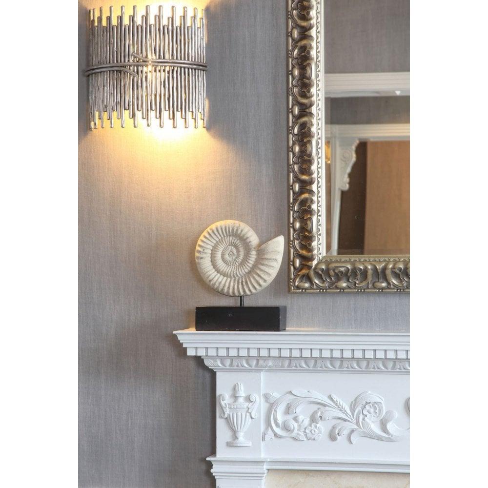 Sculpted Metal Wall Light