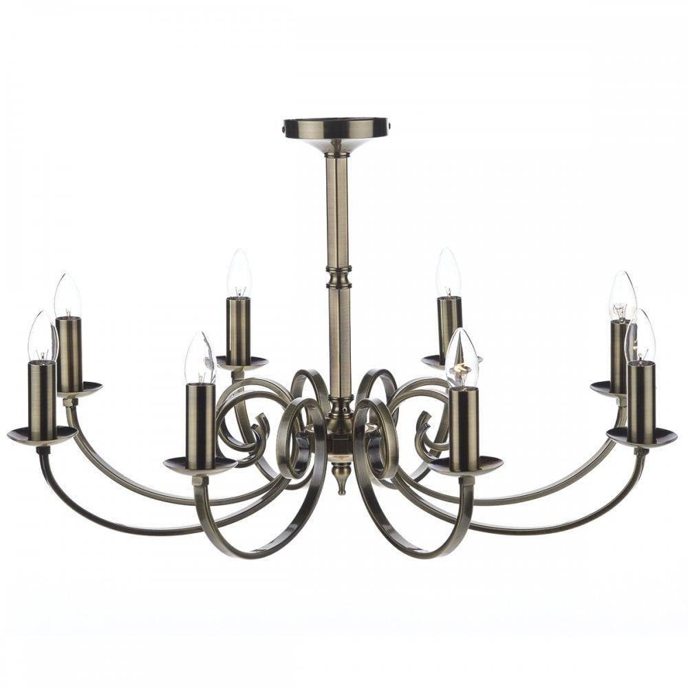 Halston 8 Light Chandelier | Frontgate | Chandelier lighting