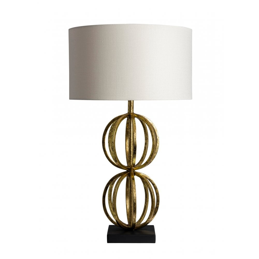 Rolo Antique Gold Table Lamp Shade