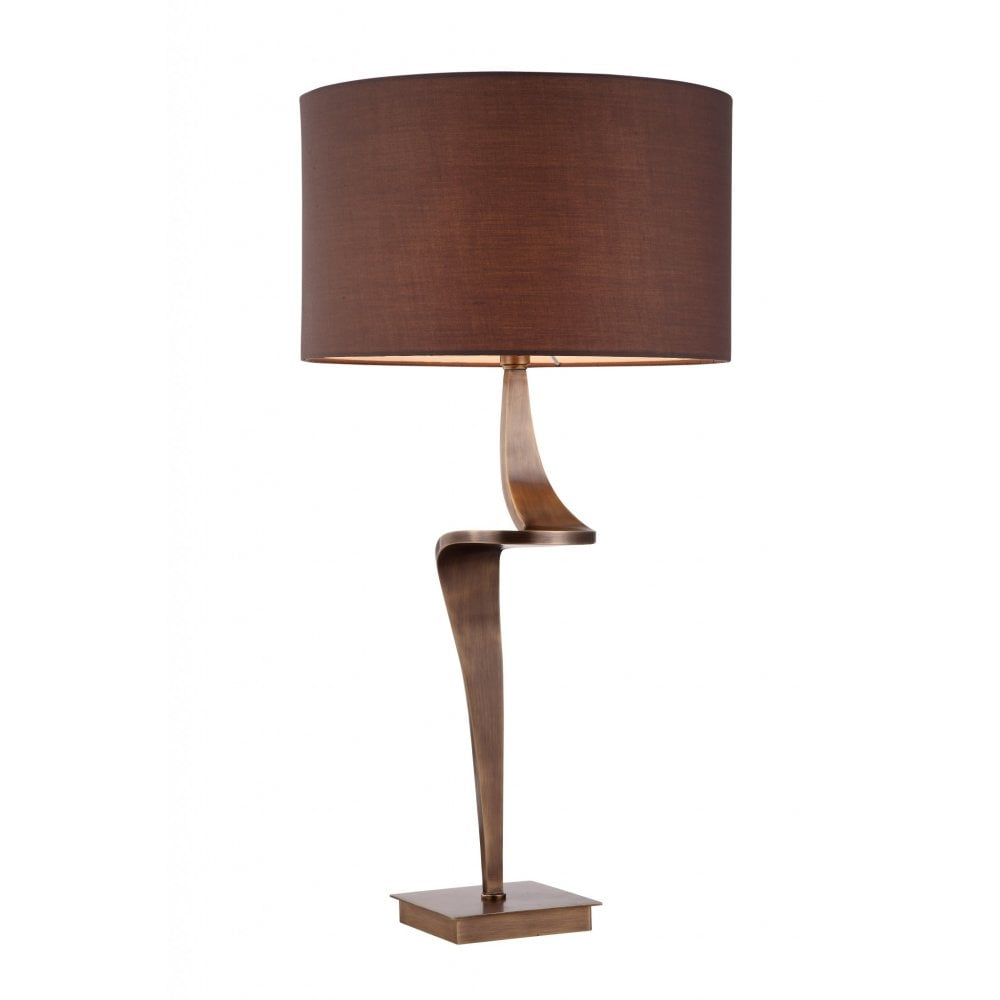 Step Antique Brass Table Lamp