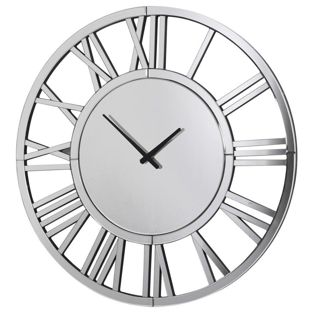 Westminster Round Mirrored Wall Clock 80cm Clocks From Cp Lighting Interiors Uk